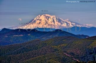silver star mountain mt adams mt rainier st helens mt hood view trail hike washington postcard