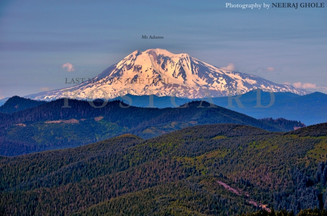silver star mountain mt adams mt rainier st helens mt hood view trail hike washington postcard