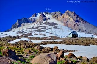 mt hood timberline lodge alpine trail hike silcox hut view glacier oregon postcard