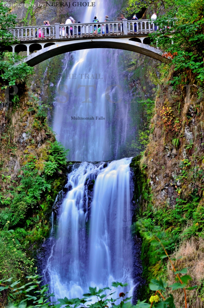 multnomah falls closeup portland oregon columbia gorge i84 postcard