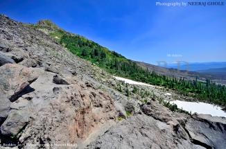 st helens summit crater ridge rim monitor washington volcano postcard