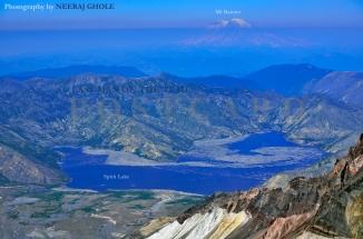 st helens spirit lake crater ridge rim washington mt rainier hike monitor postcard