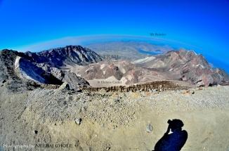 st helens hike crater ridge rim monitor fumes volcano spirit lake mt rainier ash washington postcard
