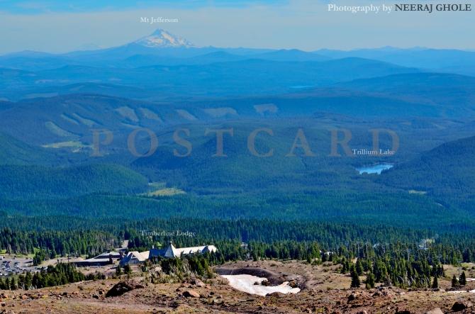 mt hood timberline lodge view mt jefferson trillium lake alpine trail hike oregon postcard