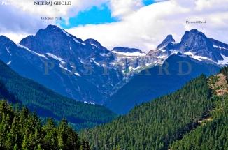 colonial peak pyramid peak closeup north cascades national park ross lake dam hike trail trek washington postcard