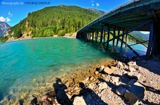 diablo lake ross lake national park north cascades washington colonial creek campground glacial lake postcard