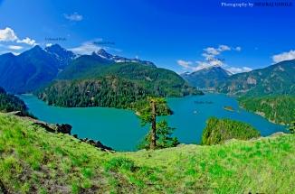 Diablo Lake Washington North Cascades National Park Ross Lake Overlook