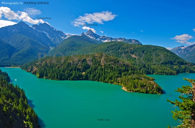 diablo lake overlook ross lake north cascades national park washington glacial lake colonial peak pyramid peak postcard