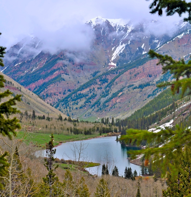 crater lake aspen maroon bells colorado hike maroon lake silver bells