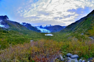 portage pass hike glacier lake anchorage whittier alaska falling ice anchorage hikes