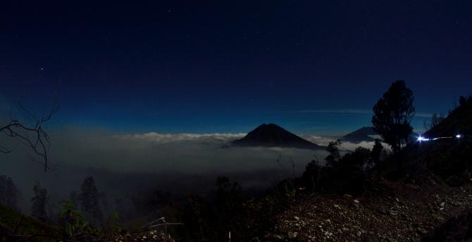 Gunung Raung Kawa Ijen Volcano Indonesia Sulphur Blue Flame Crater Lake
