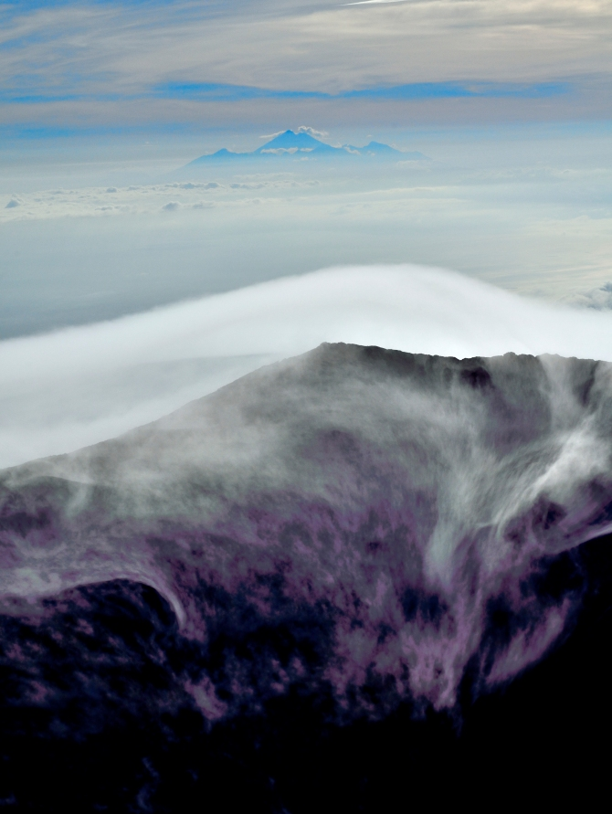 Gunung Agung Mt Bali Indonesia Crater First Summit Volcano Cloud Cap Cloudfall