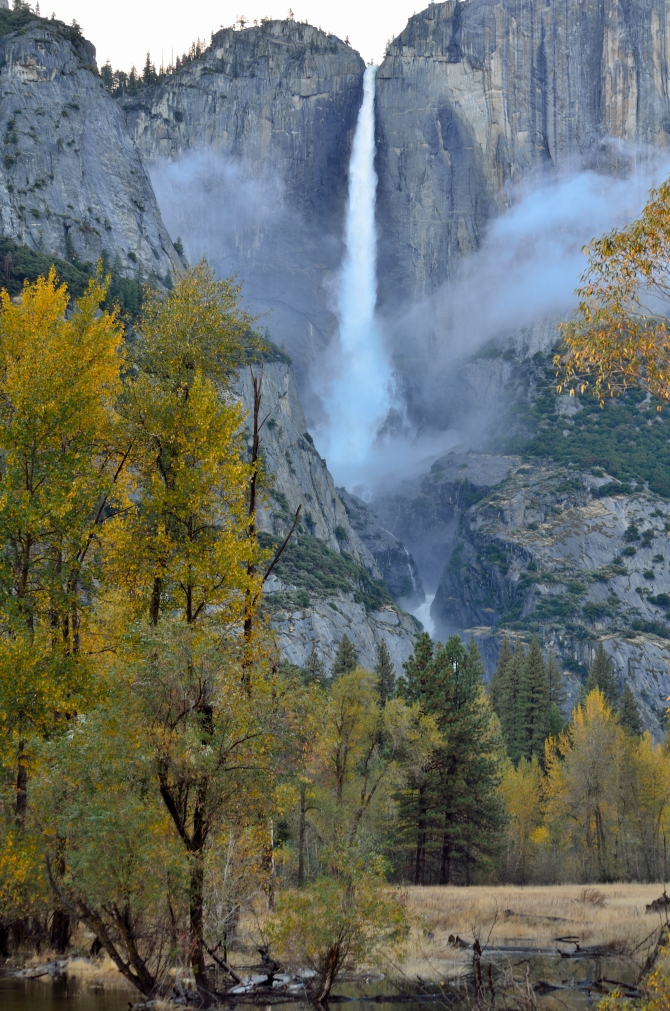 Upper Yosemite Falls Yosemite Valley Fall Colors Nevada Falls Vernal Falls Half Dome Hike Sub Dome Cables Down