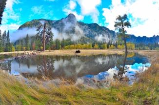 Upper Yosemite Falls Yosemite Valley Fall Colors Nevada Falls Vernal Falls Half Dome Hike Sub Dome Cables Down