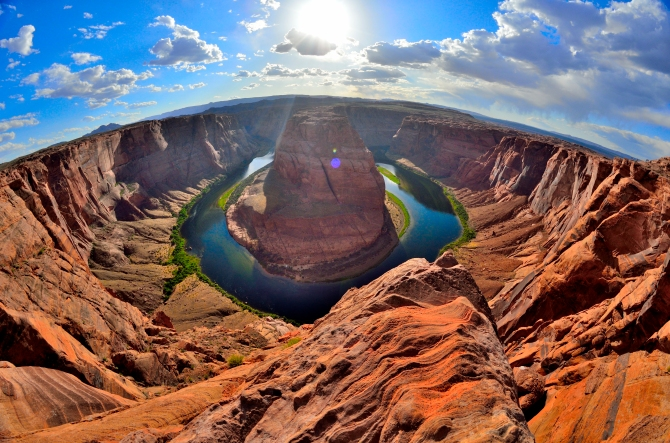 horseshoe bend arizona upper lower antelope canyon highway 89 hike trail walk page