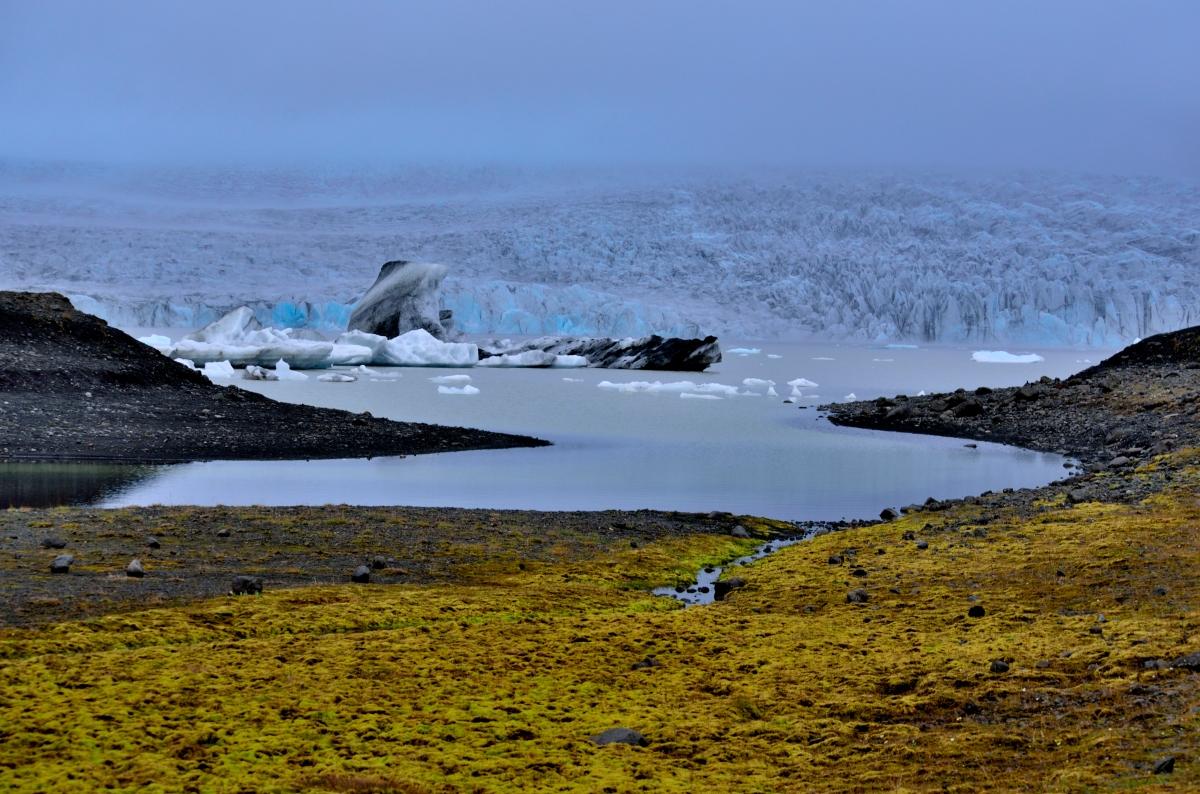 Panorama Glacier before Iceberg Lagoon Iceland Lagoon Random Rd