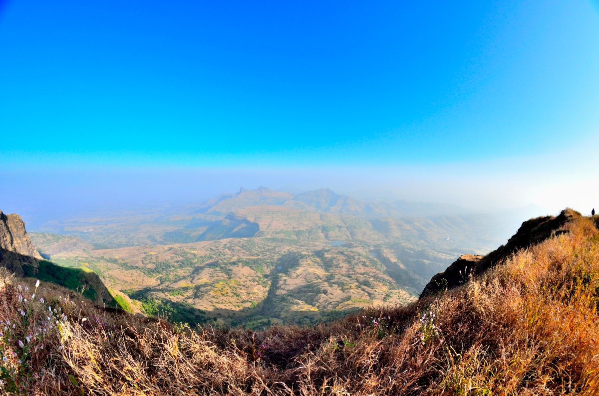 Salher Hike Temple Mandir atop on top Salota Maharashtra Mulher Second highest peak Milky way backpacking India near Mumbai Salher Fort Caves Camping