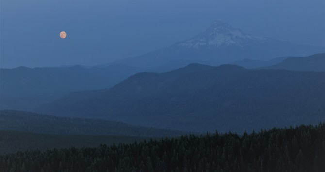 larch mountain supermoon mt hood portland oregon summit